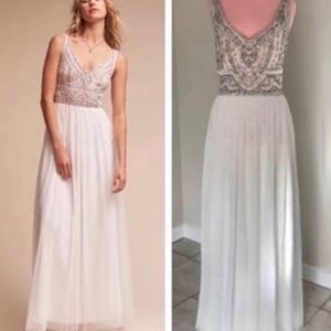 Anthropologie BHLDN White Sterling Dress NWOT